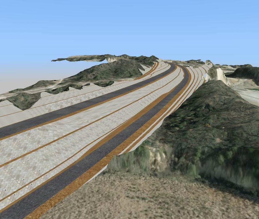 計画道路 3次元モデル