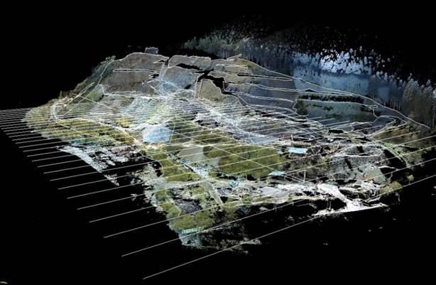 点群データ 採石場 平面・横断図作成