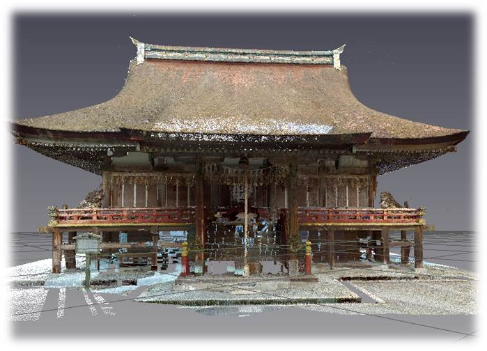 点群データ 滋賀県大津市 日吉大社 東本宮本殿