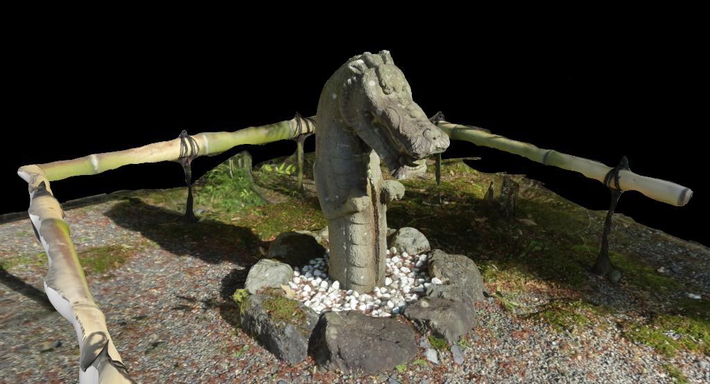 非常にリアルな3次元データ化された石像
