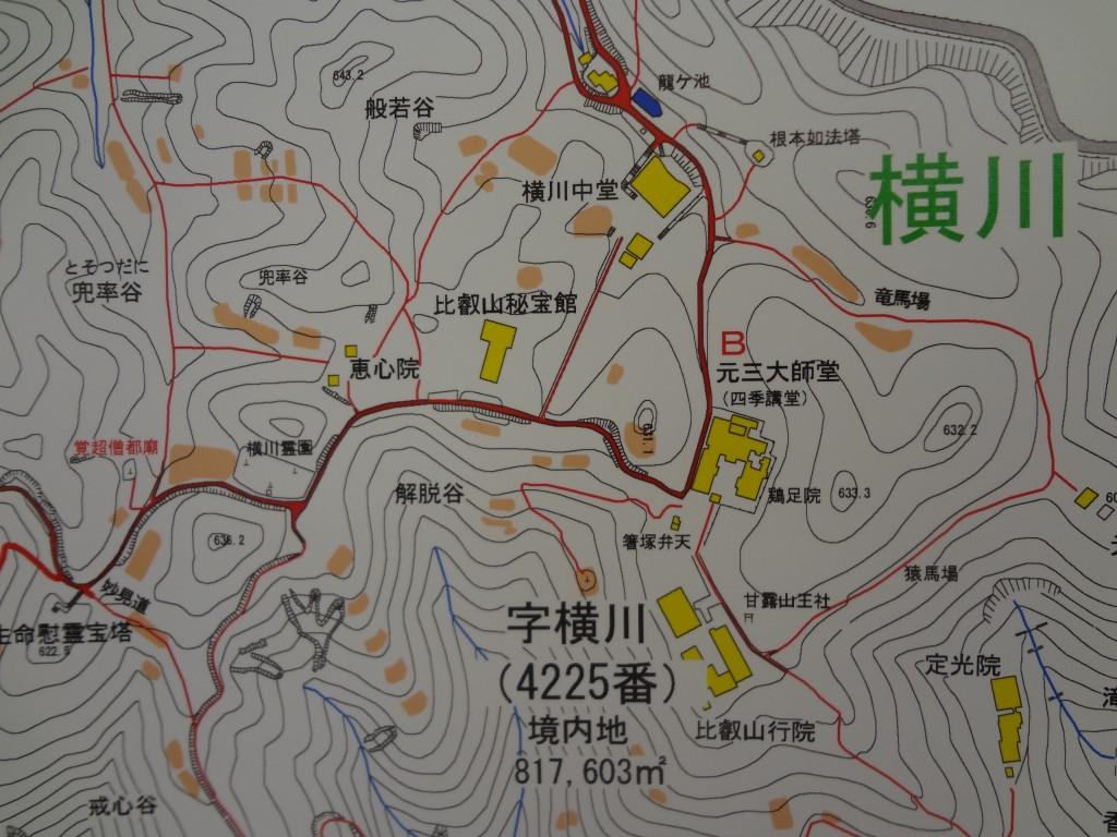 比叡山延暦寺の案内図