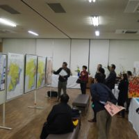本堅田村の延宝地図を文化祭で展示